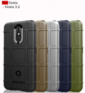 Nokia 3.2 Rugged Shield Thick TPU Shockproof Case Cover Airbag Camera Protection Casing Housing