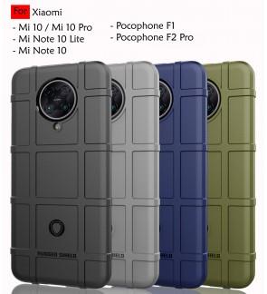 Xiaomi Mi 10 Pro Mi Note 10 Lite Pro Pocophone F1 Poco F2 Pro Rugged Shield Thick TPU Case Cover Airbag Casing Housing