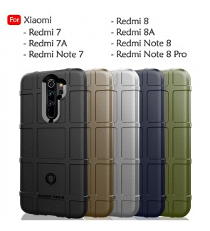 Xiaomi Redmi 7 7A Note 7 Redmi 8 8A Redmi Note 8 Pro Rugged Shield Thick TPU Shockproof Case Cover Airbag Casing Housing