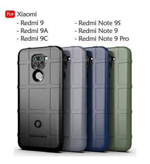 Xiaomi Redmi Note 9 Note 9S Note 9 Pro Redmi 9 9A 9C Rugged Shield Thick TPU Shockproof Case Cover Airbag Casing Housing