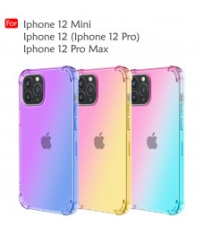 Iphone 12 Mini Iphone 12 Pro Max Rainbow Anti Shock Soft TPU Casing Case Cover Air Bag Back Housing