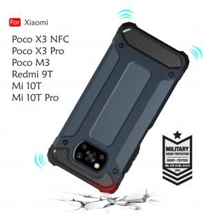 Xiaomi Poco X3 NFC X3 Pro M3 Xiaomi Mi 10T Pro Redmi 9T Rugged Armor Case Cover Hard Casing Phone Mobile Housin