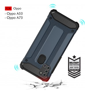 Oppo A53 A73 Rugged Armor Protection Case Cover Hard Casing Shockproof Housing