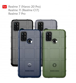 Realme 7 Pro Realme 7i Narzo 20 Pro C17 Rugged Shield Thick TPU Shockproof Case Cover Airbag Camera Lens Casing Housing