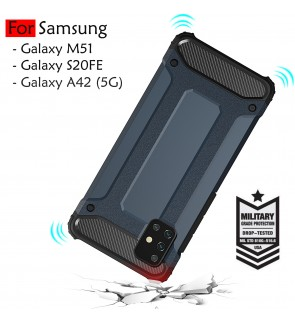 Samsung Galaxy M51 A42 5G S20 FE 5G Fan Edition Rugged Armor Protection Case Cover Hard Casing Shockproof Housing