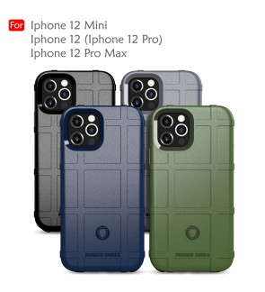 Iphone 12 Pro Max Iphone 12 Mini Rugged Shield Thick TPU Shockproof Case Cover Airbag Camera Lens Casing Housing