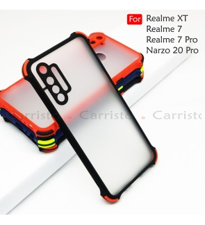 Realme XT Realme 7 Pro Narzo 20 Pro Phantom Shockproof Protection Case Housing Silicone Hard Back Cover Casing Camera