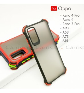Oppo Reno 4 Pro Reno 3 Pro A53 A93 A73 A15 A15S Phantom Shockproof Protection Case Housing Silicone Hard Back Cover Casing