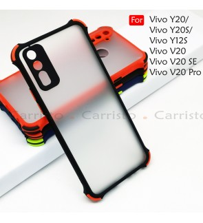 Vivo Y20 Y20S Y12S V20 V20 Pro V20 SE Phantom Shockproof Protection Case Housing Silicone Hard Back Cover Casing Camera