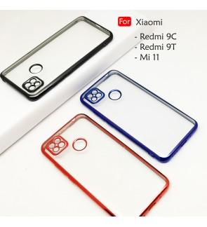 Xiaomi Redmi 9T Redmi 9C Mi 11 Electroplate Ver 4 Crystal Transparent Case Cover TPU Soft Camera Lens Protection Casing