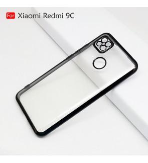 Xiaomi Redmi 9C Electroplate Ver 4 Crystal Transparent Case Cover TPU Soft Camera Lens Protection Casing