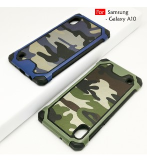 Samsung Galaxy A10 Military Army Case Casing Cover Housing Anti Shock Protection Case