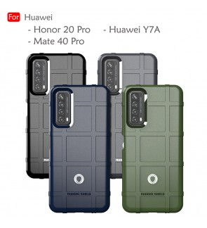 Huawei Y7A Mate 40 Pro Honor 20 Pro Rugged Shield Thick TPU Shockproof Case Cover Airbag Casing Housing