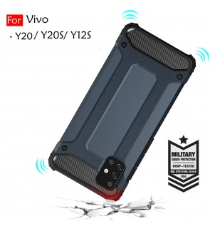 Vivo Y20 Y20S Y12S Rugged Armor Protection Case Cover Hard Casing Shockproof Housing