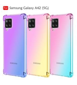 Samsung Galaxy A42 5G Rainbow Aurora Anti-Shock Air Bag Case Cover TPU Soft Casing Housing