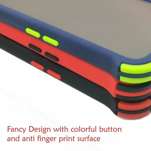 Carristo Samsung Galaxy A42 5G Back Case Cover Carbon Fiber Brushed TPU Silicone Soft Casing Housing