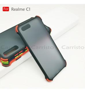 Realme C1 Bogey Shockproof Case Housing Hard Back Cover Casing
