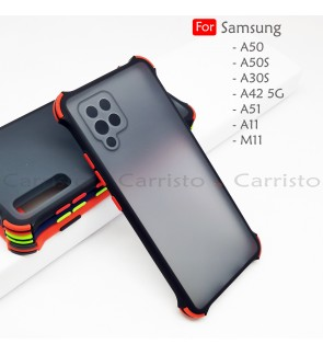 Samsung Galaxy A50S A50 A30S A42 A51 A11 M11 Bogey Shockproof Case Housing Hard Back Cover Casing