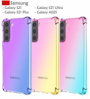 Samsung Galaxy S21 Plus S21 Ultra A02S S21+ Anti Shock Case Cover Rainbow Aurora TPU Soft Casing Housing