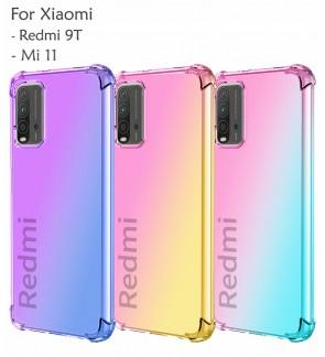 Xiaomi Redmi 9T Mi 11 Anti-Shock Case Cover Rainbow Aurora TPU Soft Casing Housing