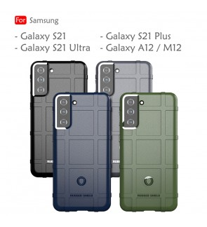 Samsung Galaxy S21 Plus S21 Ultra A12 M12 S21+ Rugged Shield Thick TPU With Shockproof Design Case Cover Casing Housing