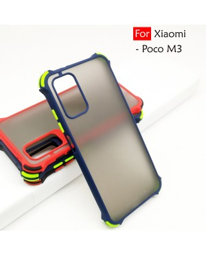 Xiaomi Poco M3 Phantom Shockproof Protection Case Housing Silicone Hard Back Cover Casing Camera Protector
