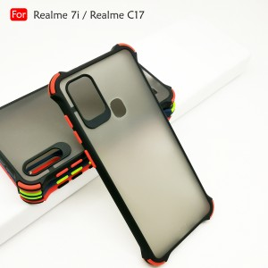Realme 7i Realme C17 Phantom Shockproof Protection Case Housing Silicone Hard Back Cover Casing Camera Protector