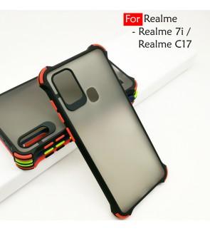 Realme 7i Realme C17 Phantom Shockproof Protection Case Housing Silicone Hard Back Cover Casing Camera Protector