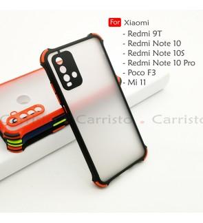 Xiaomi Redmi Note 10 Pro Note 10S Poco F3 Mi 11 Redmi 9T Phantom Shockproof Case Housing Silicone Hard Back Cover Casing