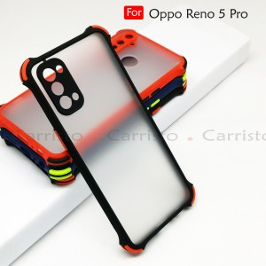 Oppo Reno 5 Pro Reno 5 Phantom Shockproof Protection Case Housing Silicone Hard Back Cover Casing Camera Protect