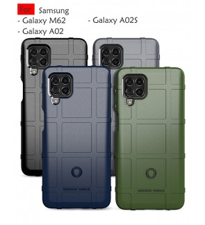 Samsung Galaxy M62 A02 A02S Rugged Shield Thick TPU With Shockproof Design Case Cover Protection Casing Housing