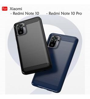 Xiaomi Redmi Note 10 Note 10 Pro Back Case Cover Carbon Fiber Brushed TPU Silicone Soft Casing Phone Mobile Housing