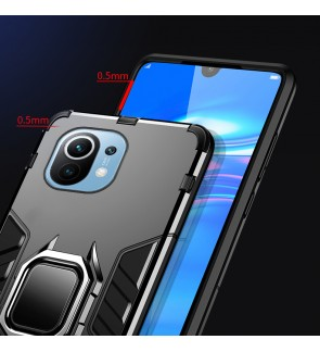 Xiaomi Mi 11 Car Holder Back Case Cover Shockproof Protection Casing Phone Mobile Housing Metal Iring