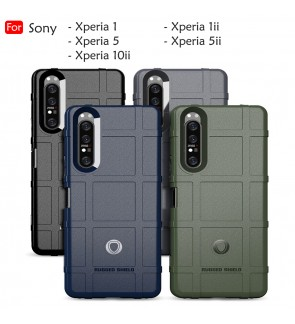 Sony Xperia 1 5 1 ii 5 ii 10 ii Rugged Shield Thick TPU With Shockproof Case Cover Casing Phone Mobile Housing