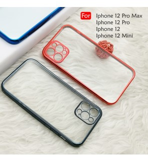 Iphone 12 Mini Iphone 12 Pro Max Electroplate Ver 4 Crystal Transparent Case Cover TPU Soft Casing Phone Mobile Housing