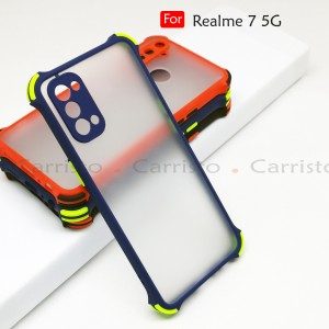 Realme 7 5G X7 Pro Phantom Shockproof Protection Case Housing Silicone Hard Back Cover Phone Mobile Casing Camera