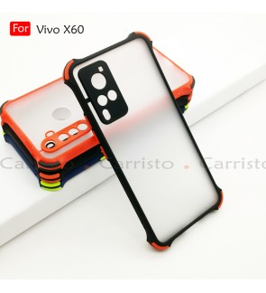Vivo X60 Phantom Shockproof Protection Case Housing Silicone Hard Back Cover Phone Mobile Casing Camera Protect