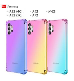 Samsung Galaxy A32 4G A32 5G A52 A72 Anti-Shock Case Cover Rainbow Aurora TPU Soft Casing Mobile Phone Housing