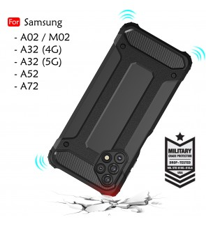 Samsung Galaxy A32 4G A32 5G A52 A72 A02 M02 Rugged Armor Case Cover Hard Phone Mobile Casing Shockproof Housing
