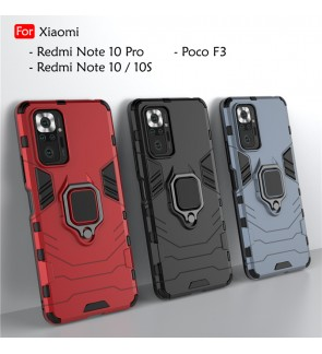 Xiaomi Redmi Note 10 Pro Note 10 10S Poco F3 Car Holder Back Case Cover Shockproof Casing Phone Mobile Housing Iring