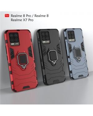 Realme X7 Pro Realme 8 Pro Car Holder Back Case Cover Shockproof Protection Casing Phone Mobile Housing Metal Iring
