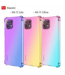 Xiaomi Mi 11 Lite Mi 11 Ultra Rainbow Aurora Anti-Shock Case Cover Mobile Phone TPU Soft Casing Housing