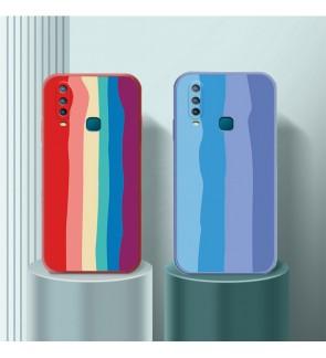 Vivo V9 V15 V15 Pro Y12 Y15 Y17 Y19 Water Color Painting Rainbow Back Case Liquid Cover Casing Phone Mobile Housing
