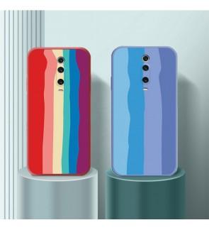 Xiaomi Poco F2 Pro Mi 9T Mi 9 T Mi 10 Pro Mi 11 Water Color Painting Rainbow Back Case Liquid Cover Casing Phone Housing