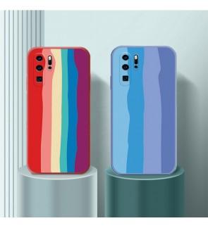 Huawei P40 P40 Pro P30 P30 Pro P20 P20 Pro Water Color Painting Rainbow Back Case Liquid Cover Casing Phone Housing