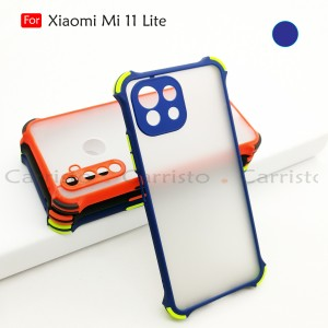 Xiaomi Mi 11 Lite Phantom Shockproof Protection Case Housing Silicone Hard Back Cover Phone Mobile Casing Camera Protect