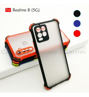 Realme 8 5G Phantom Shockproof Protection Case Housing Silicone Hard Back Cover Phone Mobile Casing Camera Protect