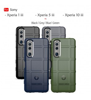 Sony Xperia 1 iii 5 iii 10 iii Rugged Shield Thick TPU Shockproof Case Cover Protection Casing Phone Mobile Housing