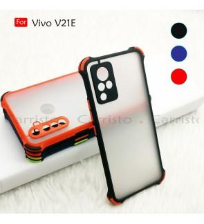 Vivo V21E V21 E Phantom Shockproof Protection Case Housing Silicone Hard Back Cover Phone Mobile Casing Camera Protect