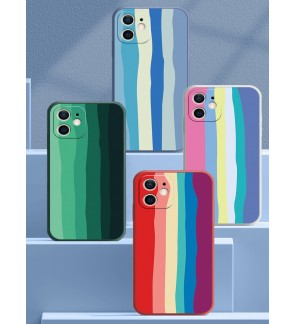 Vivo Y20 Y20S Y12S Y20S [G] Y91 Y91i Y95 Water Color Painting Rainbow Back Case Liquid Cover Case Phone Mobile Housing